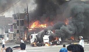 Tragedia en Villa El Salvador: el preciso momento de explosión