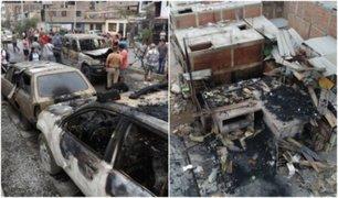 Tragedia en Villa El Salvador: varios hogares y vehículos fueron afectados por incendio