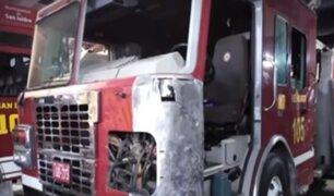 Villa El Salvador: única autobomba de bomberos del distrito está inoperativa hace más de un año