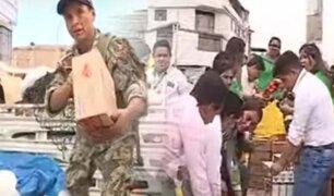 Familias damnificadas de Villa El Salvador continúan recibiendo ayuda solidaria