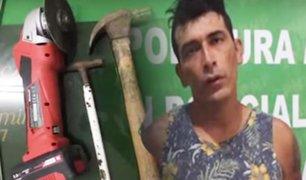 Piura: capturan a delincuente que asaltó camión repartidor de abarrotes