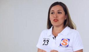 """Anyela Ortíz: """"Como futura bancada queremos que los militares y policías salgan a las calles"""""""