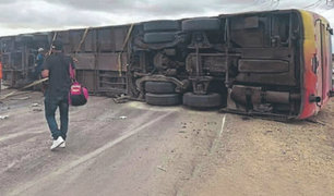 Piura: menor de dos años entre los fallecidos tras despiste y volcadura de ómnibus