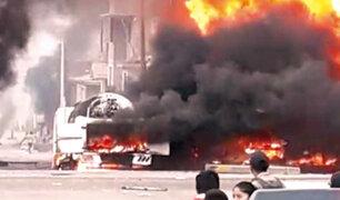 VES: deflagración no habría iniciado en camión cisterna
