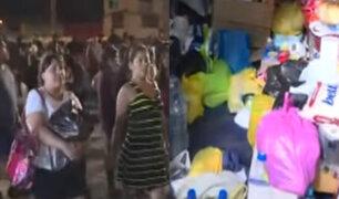 VES: decenas de ciudadanos continúan acudiendo para dejar sus donaciones a damnificados