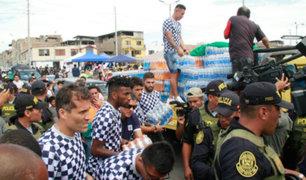 Tragedia en VES: jugadores de Alianza Lima apoyan con víveres a damnificados