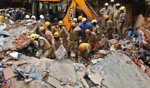 Muertos, heridos y desaparecidos deja derrumbe de edificio en India