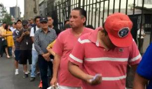 Cercado de Lima: largas colas en Reniec a poco de iniciar las elecciones 2020