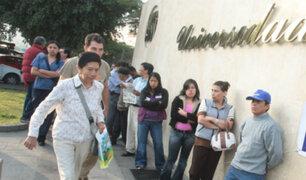 Universidad Ricardo Palma: se registran largas colas y desorden durante votación