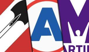 Acción Popular, APP y el Partido Morado encabezan votaciones en el Congreso