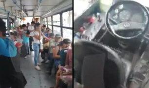 SJM: chofer abandona bus lleno de pasajeros para ir a votar