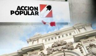 Advierten que resurgimiento de Acción Popular podría interrumpirse por liderazgos múltiples