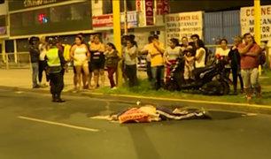 SMP: motociclista muere tras ser impactado por bus