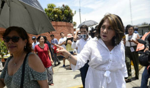 San Borja: Martha Chávez enfrentó a ciudadanos que la criticaron