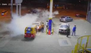 SJM: controlan a tiempo fuga de gas que se registró en grifo
