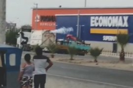 Piura: fuga de gas de cisterna causa alarma en centro comercial de Sullana