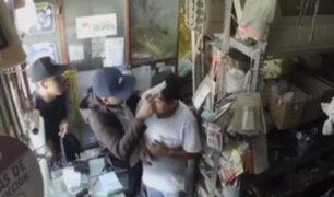 SJL: delincuentes armados asaltan ferretería y se llevan 2 mil soles