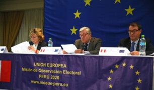 """Unión Europea da su visto bueno: """"Proceso electoral fue creíble, democrático y cívico"""""""