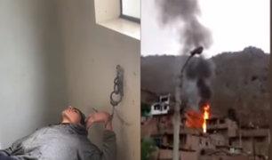 Sujeto agrede a su pareja, se va de su casa y horas después regresa a provocar incendio