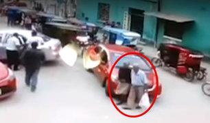 Tumbes: pareja de ancianos es brutalmente embestida por un auto
