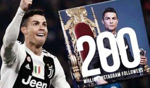 Cristiano Ronaldo celebra su nuevo récord en Instagram