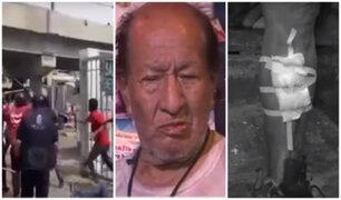 La Victoria: 10 fiscalizadores y un anciano heridos tras ser agredidos por comerciantes informales