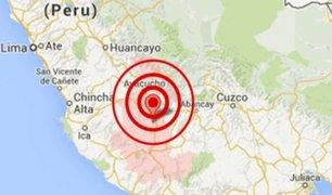 Sismo de magnitud 4.0 se registró esta mañana en Ayacucho