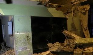 SJL: obrero muere aplastado tras derrumbe de pared en obra sin licencia