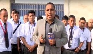 SJL: trabajadores del Corredor Morado protestan por falta de pago