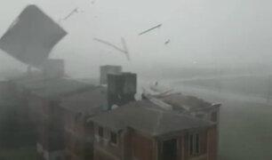Paraguay: vientos de hasta 145 Km/h destruyeron viviendas