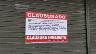 Municipalidad de Lince clausuró el Centro Comercial Arenales