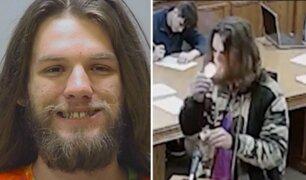 Arrestan a hombre tras fumar marihuana en pleno juicio en su contra