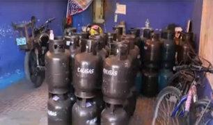 Breña: clausuran locales que vendían balones de gas