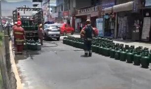 Comas: se registró explosión en camión que transportaba balones de gas