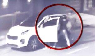 San Borja: delincuentes armados golpean a conductor y le roban sus pertenecías