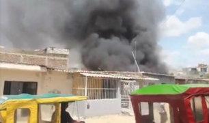 Piura: incendio dejó ocho familias damnificadas