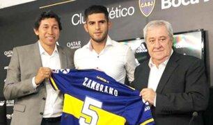 Carlos Zambrano fue presentado como nuevo refuerzo de Boca Juniors