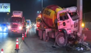 Lamsac evalúa daños de puente Caja de Agua impactado por camión