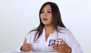 """Cecilia García: """"La lucha contra la delincuencia es nuestra principal bandera"""""""
