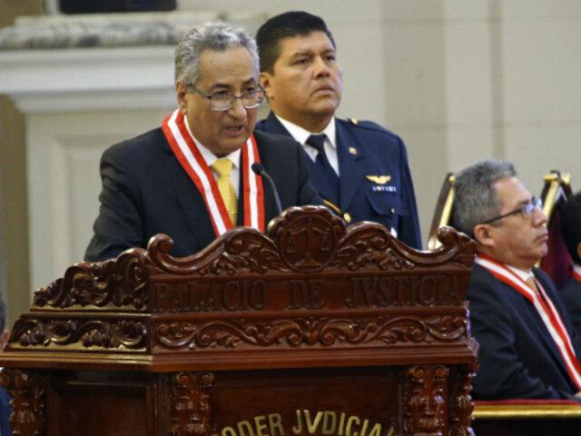 José Luis Lecaros presidirá hoy inicio de Año Judicial 2020