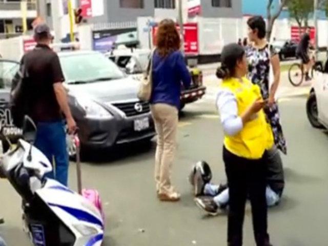 Taxista y motociclista protagonizaron accidente en Santa Beatriz