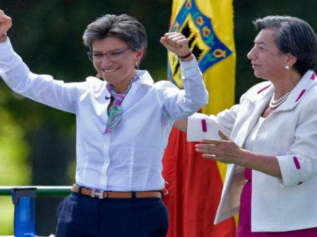 Claudia López asumió como primera alcaldesa de Bogotá