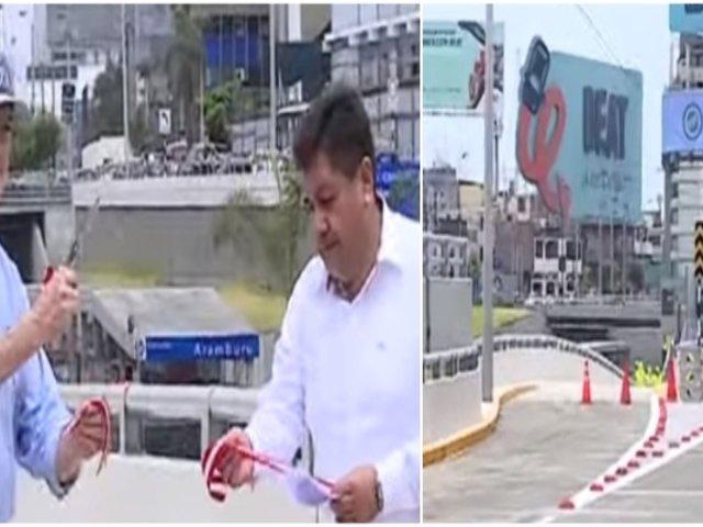 Jorge Muñoz entregó obras de mejoramiento vial en Av. Paseo de la República