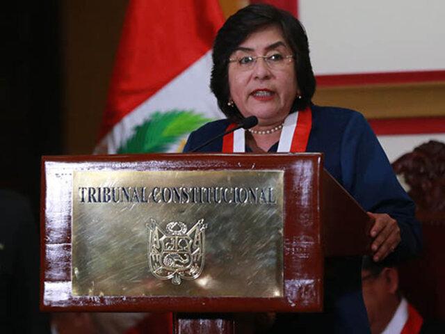 """Presidenta del TC: """"Haremos un balance de la experiencia que hemos tenido"""""""