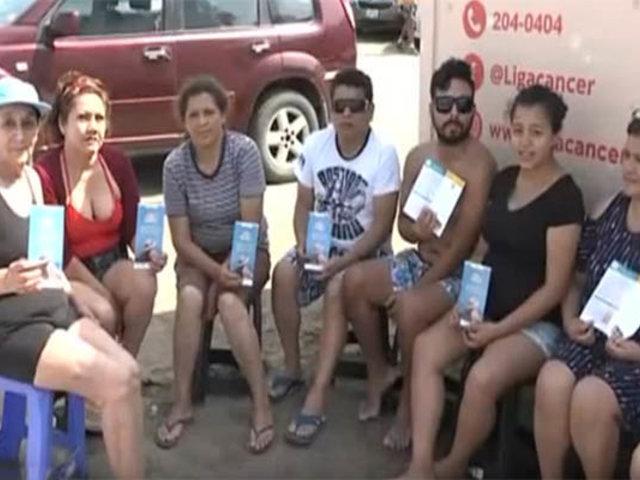 Barranco: campaña contra el cáncer de piel en playa Las Sombrillas