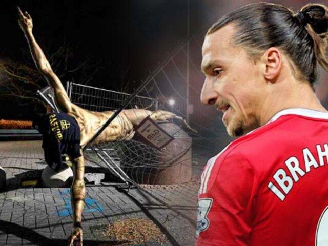 Suecia: estatua de Zlatan Ibrahimovic fue derribada por vándalos