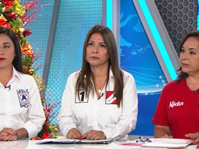 Violencia contra la mujer: Lesly Shica, Mónica Saavedra y Nidia Vilchez exponen propuestas
