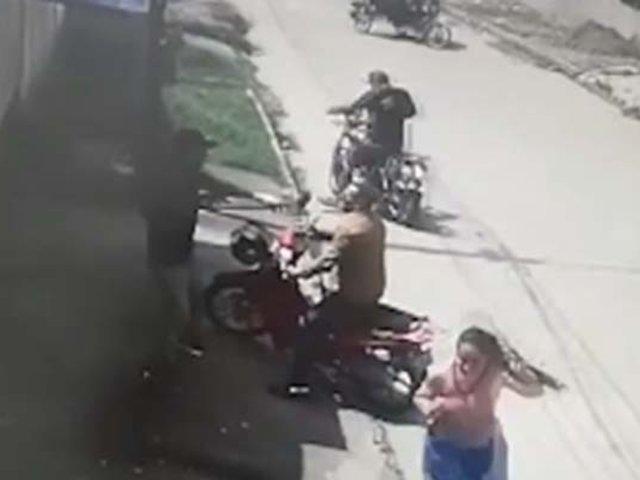 Pucallpa: delincuentes en moto siguieron a empresario del banco a casa para asaltarlo
