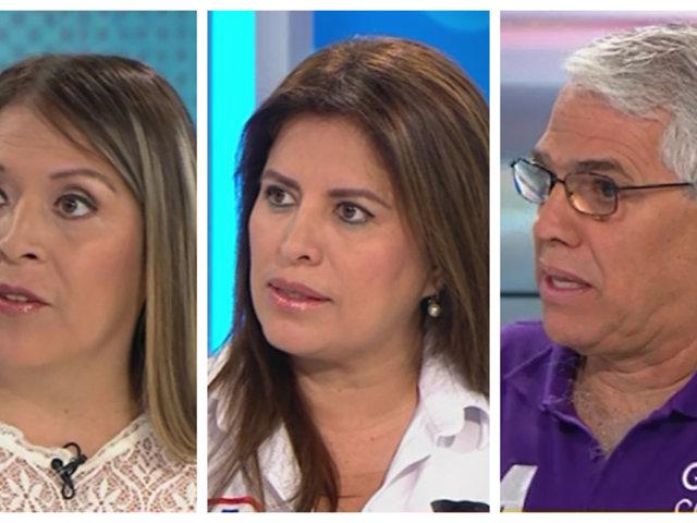 Yeni Vilcatoma, Carmen Omonte y Gino Costa exponen sus propuestas al Congreso