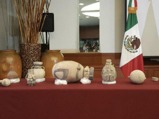 México devolvió al Perú 37 piezas arqueológicas